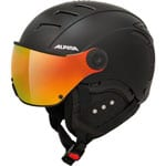 Alpina Jump QVMM Skihelm Black Red Matt