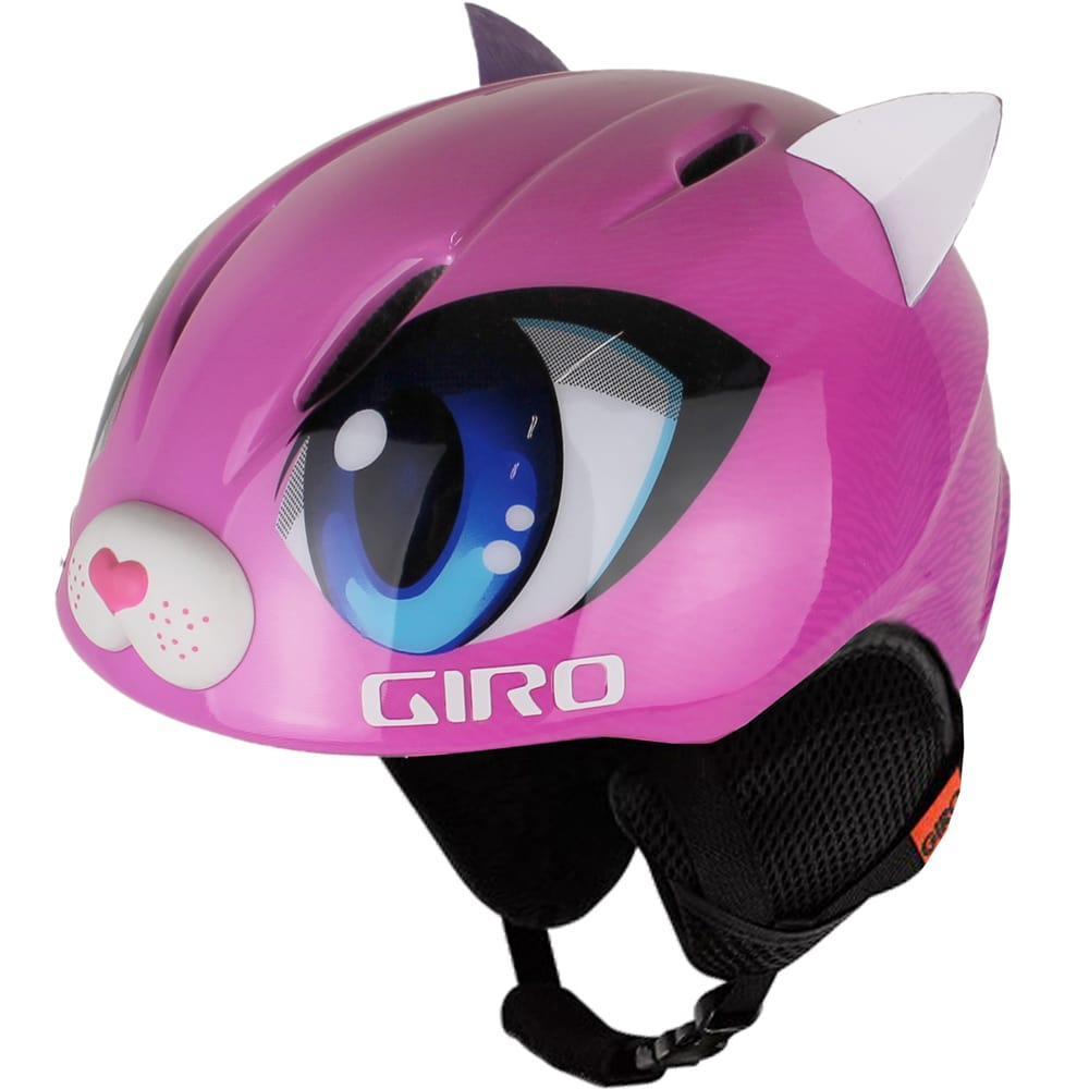 giro launch plus kinder skihelm pink meow fun sport vision. Black Bedroom Furniture Sets. Home Design Ideas