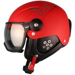 HMR H1 Skihelm mit Visier Matte Red