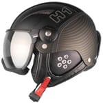 HMR H1 Skihelm mit Visier Black/Gold Twist