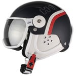 HMR H1 Skihelm mit Visier Blue/Red/White Leather