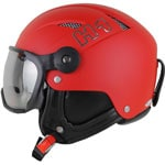 HMR H1 Skihelm mit Visier Red