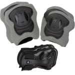 K2 Moto Pad Set Skate Schuetzerset Grey Black