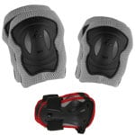 K2 Performance M Pad Set Skate-Schuetzerset Grey/Black