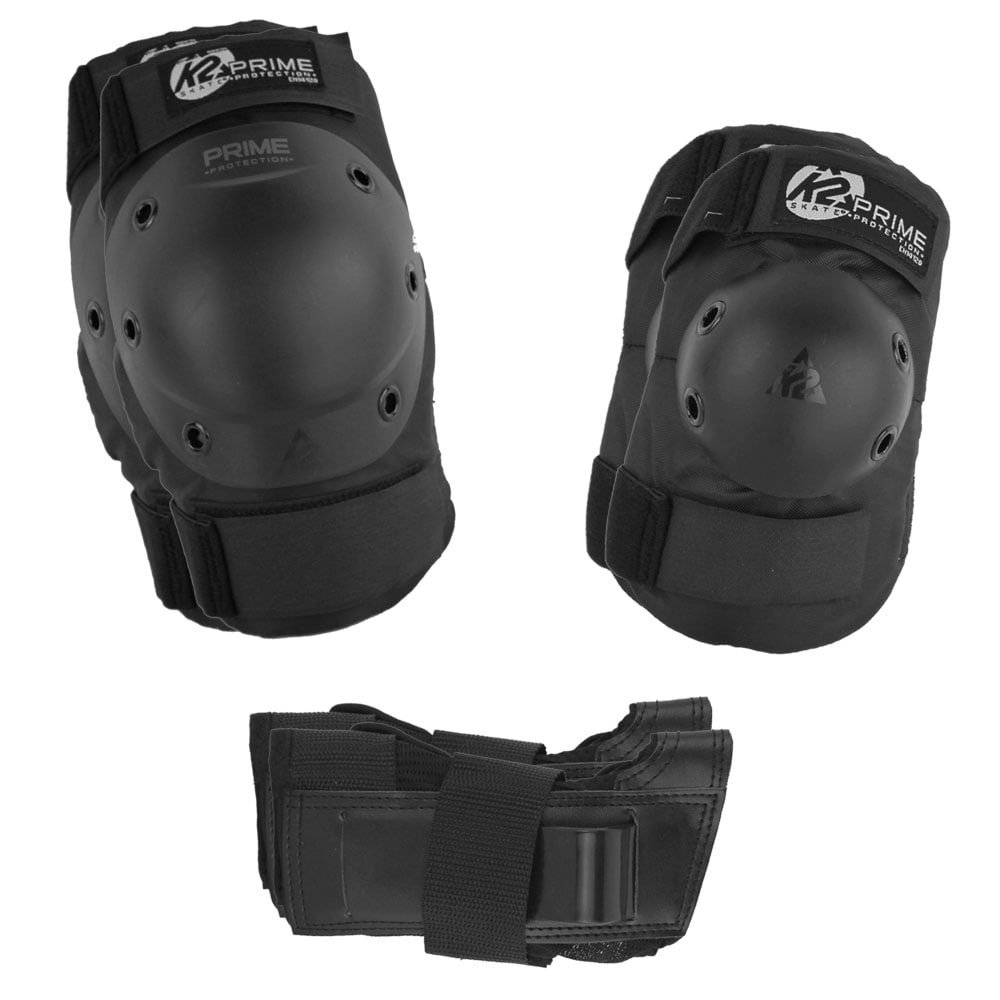 K2 Prime M Pad Set Skate-Schuetzerset Black/Grey