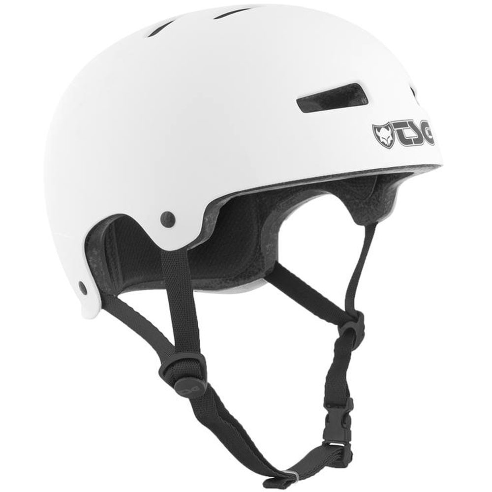 TSG Evolution Solid Color Skatehelm Satin White