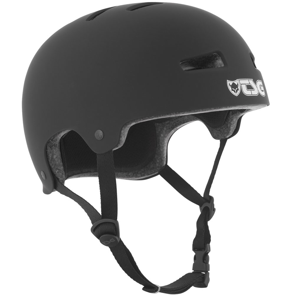 TSG Evolution Solid Color Skatehelm - Flat Black