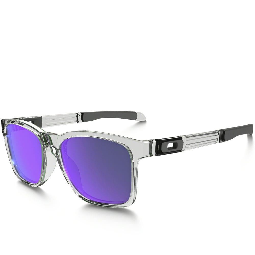 Oakley Catalyst Sonnenbrille Polished Clear/Violet Iridium is56jUj