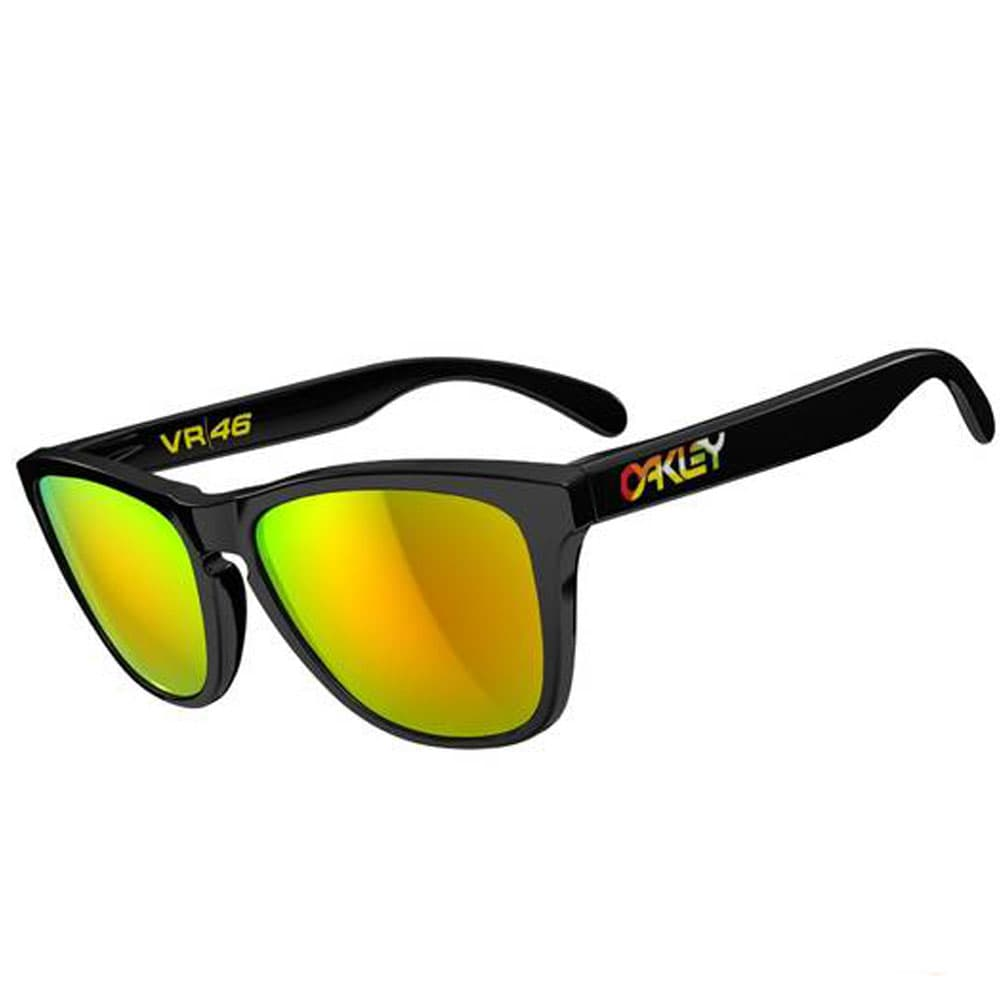 Oakley Frogskins VR46 Rossi Edition Polished Black/Fire Iridium