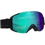 Salomon XView Photo Skibrille Black All Weather Blue