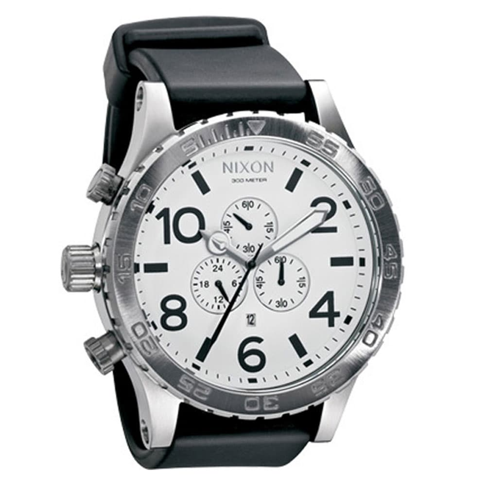 nixon uhr chrono 51 30 pu a058 1100 white online kaufen. Black Bedroom Furniture Sets. Home Design Ideas