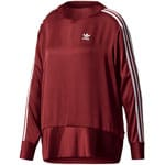 adidas Originals 3 Stripes Sweater Damen-Pullover Burgundy