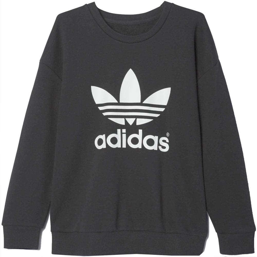 adidas trefoil sweatshirt damen pullover ab2019 black. Black Bedroom Furniture Sets. Home Design Ideas
