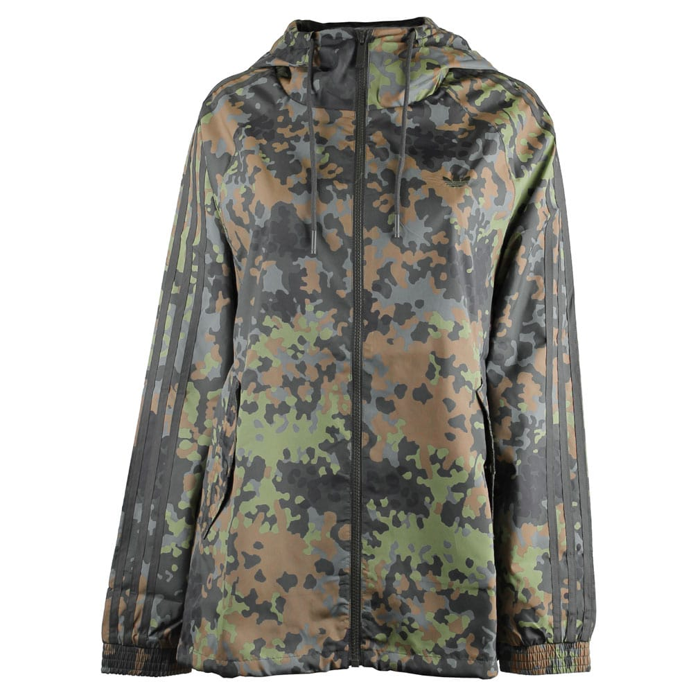 adidas allover windbreaker jacke damen m30311 camo multicolor fun sport vision. Black Bedroom Furniture Sets. Home Design Ideas