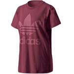 adidas Originals Big Trefoil Tee Damen-Shirt Burgundy