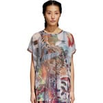 adidas Originals Boxy Tee Damen-Netzshirt Multicolor