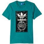 adidas Originals Camo Tongue Label Tee Herren-Shirt Equipment Green