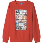 adidas Originals BTS Back To School Crew Herren-Sweatshirt Scarlet