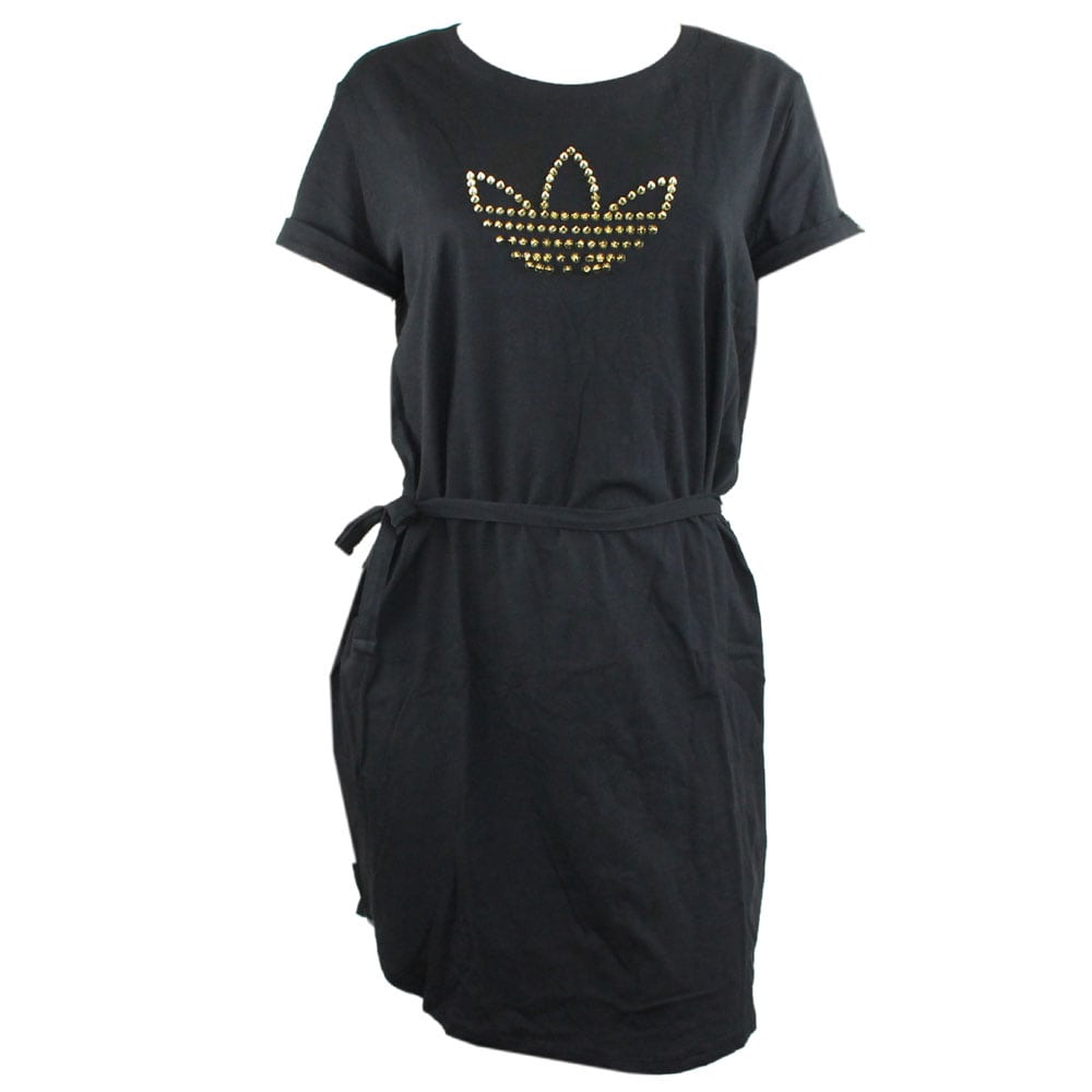 Adidas Originals Tee Dress F78394 W (Black/Gold)