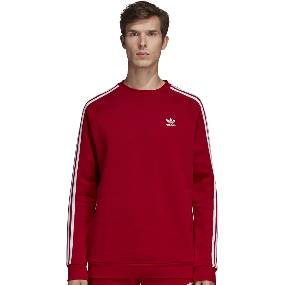 adidas Originals 3-Stripes Crew Herren-Sweatshirt Power Red