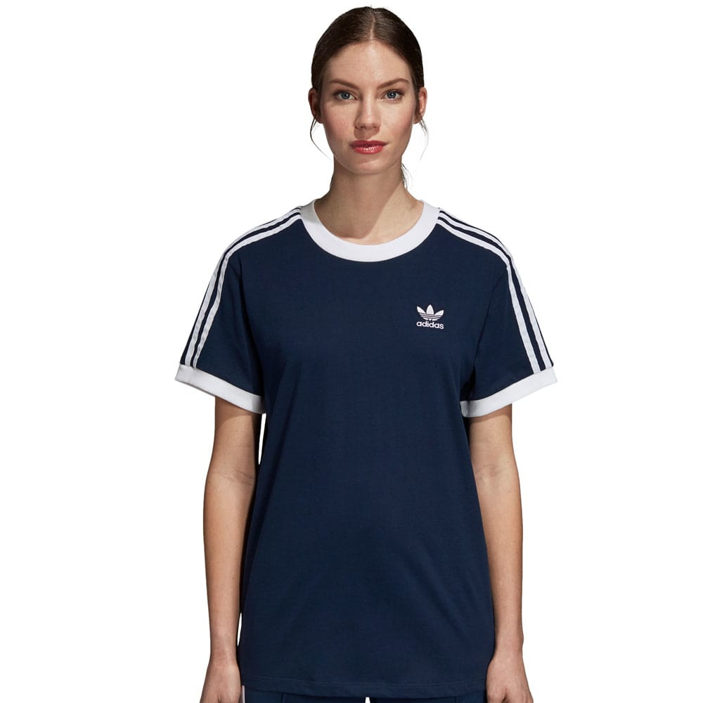 adidas Originals 3 Stripes Tee Damen-Shirt Collegiate Navy
