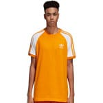 adidas Originals 3-Stripes Tee Herren-Shirt Bold Orange