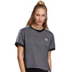 adidas Originals 3 Stripes Tee Damen-Shirt Black/White