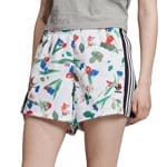 adidas Originals All Over Print Floral Shorts Bellista White