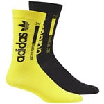 adidas Originals Crew Sock 2 Paar Socken Black/Shock Yellow