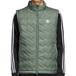 adidas Originals SST Puffy Vest Herren-Weste Trace Green