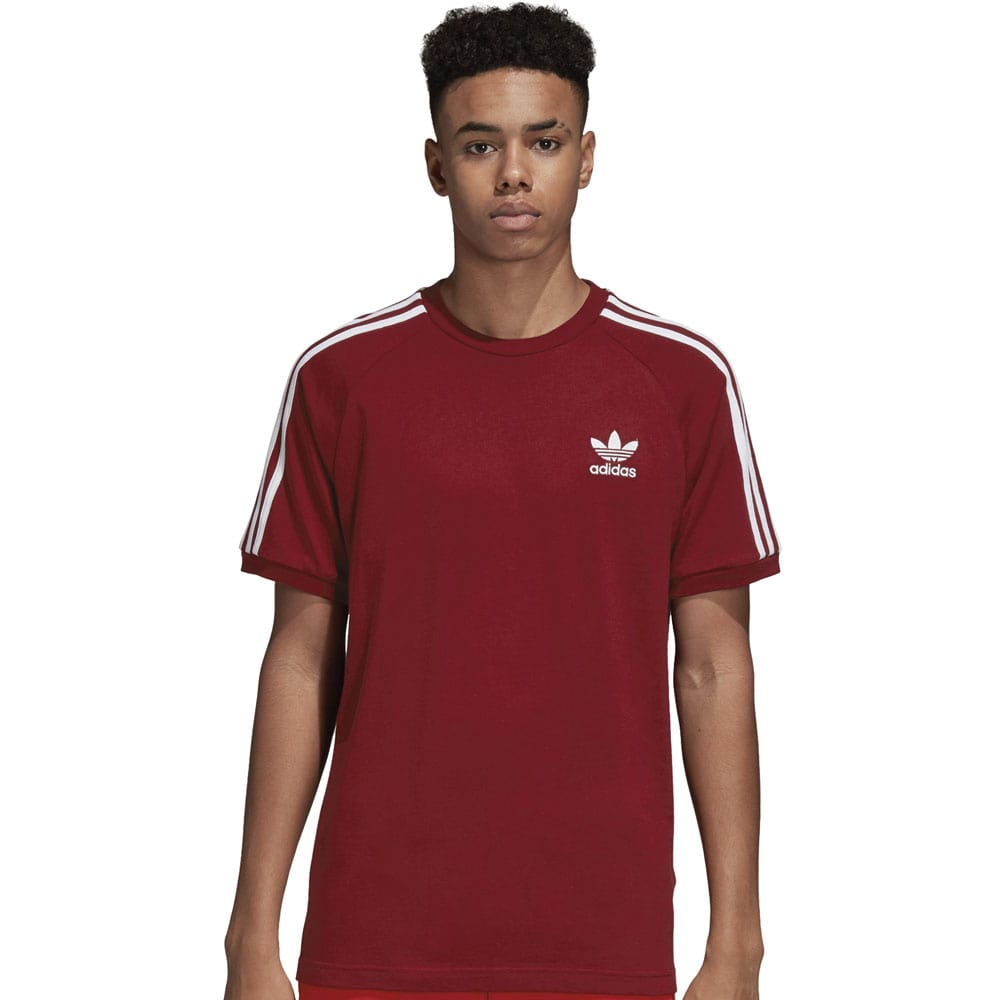 adidas Originals 3-Stripes Tee Herren-Shirt Collegiate Burgundy