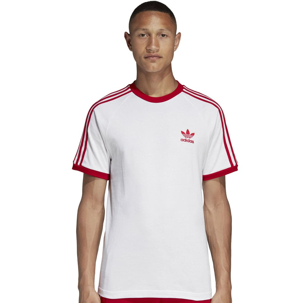adidas Originals 3-Stripes Tee Herren-Shirt White/Power Red