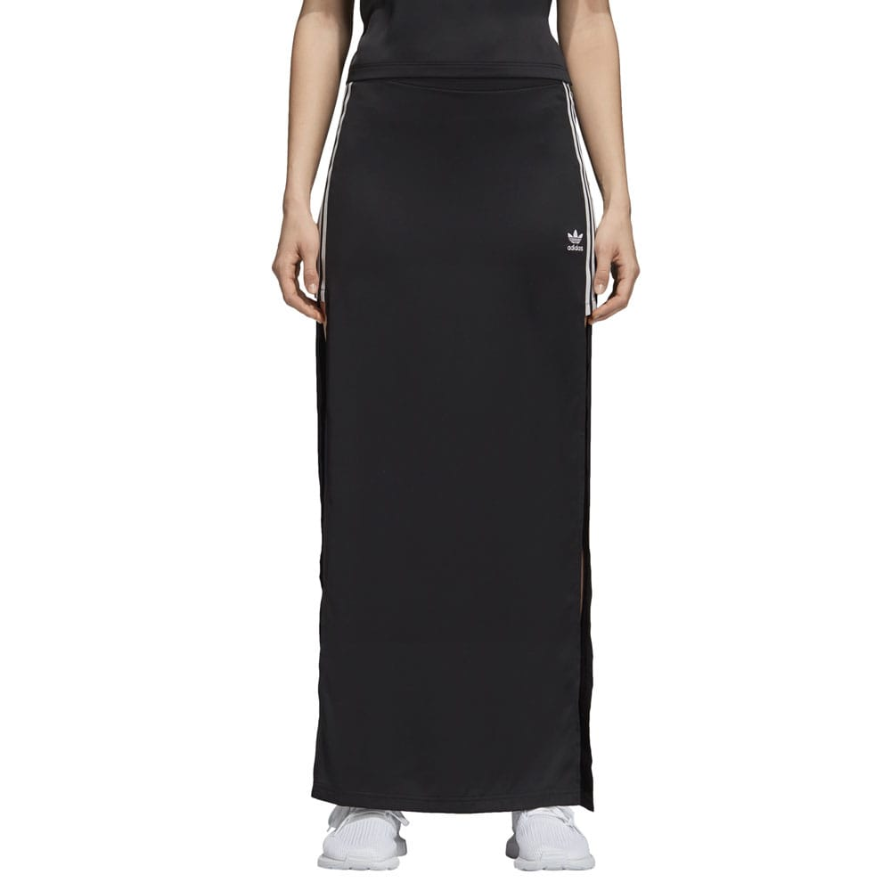 adidas Originals Fashion League Long Satin Skirt Damen-Rock Black