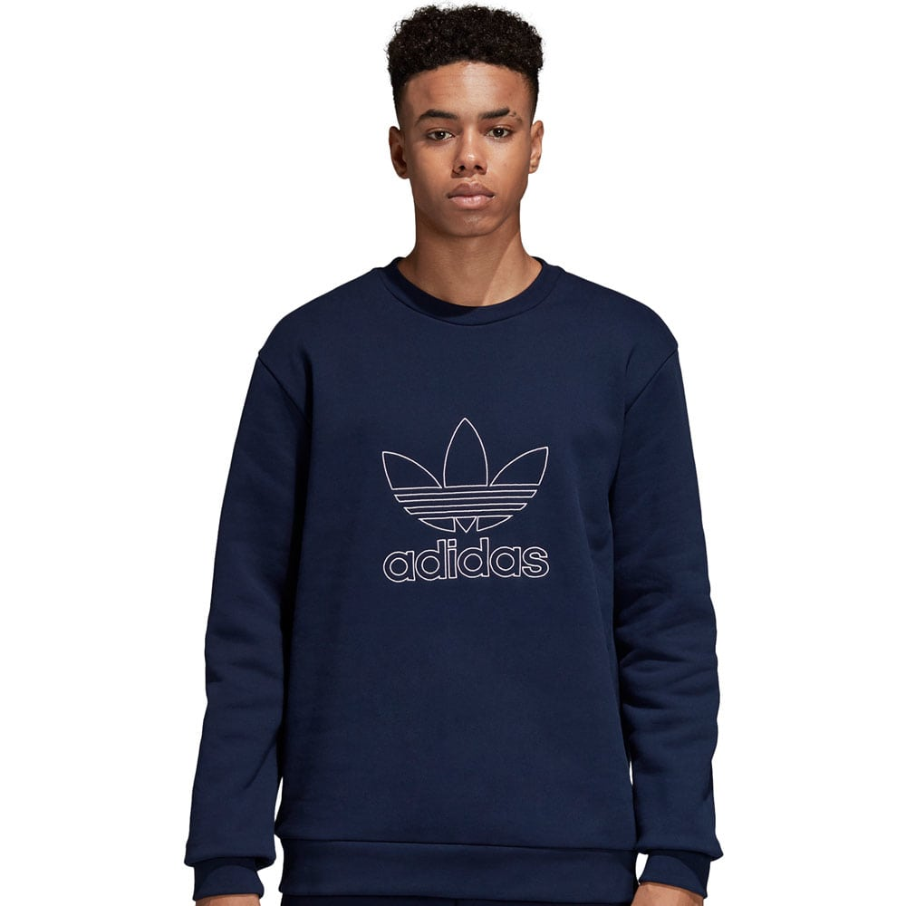 adidas Originals Outline Crew Herren-Sweatshirt  Collegiate Navy