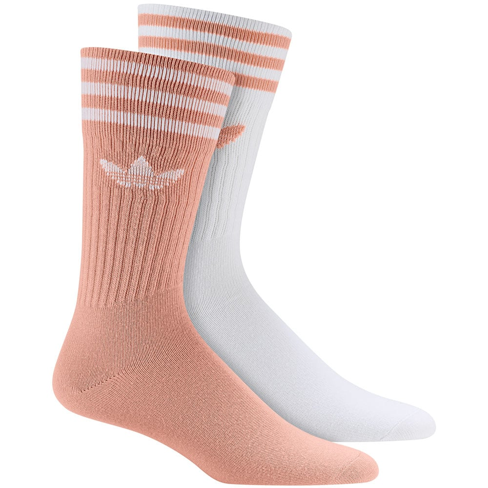 adidas Originals Solid Crew Socks 2 Paar Socken Dust Pink White