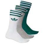 adidas Originals Solid Crew Socks 3 Paar Socken Collegiate Green Whiot