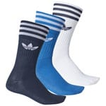 adidas Originals Solic Crew Socks 3 Paar Socken Collegiate Navy