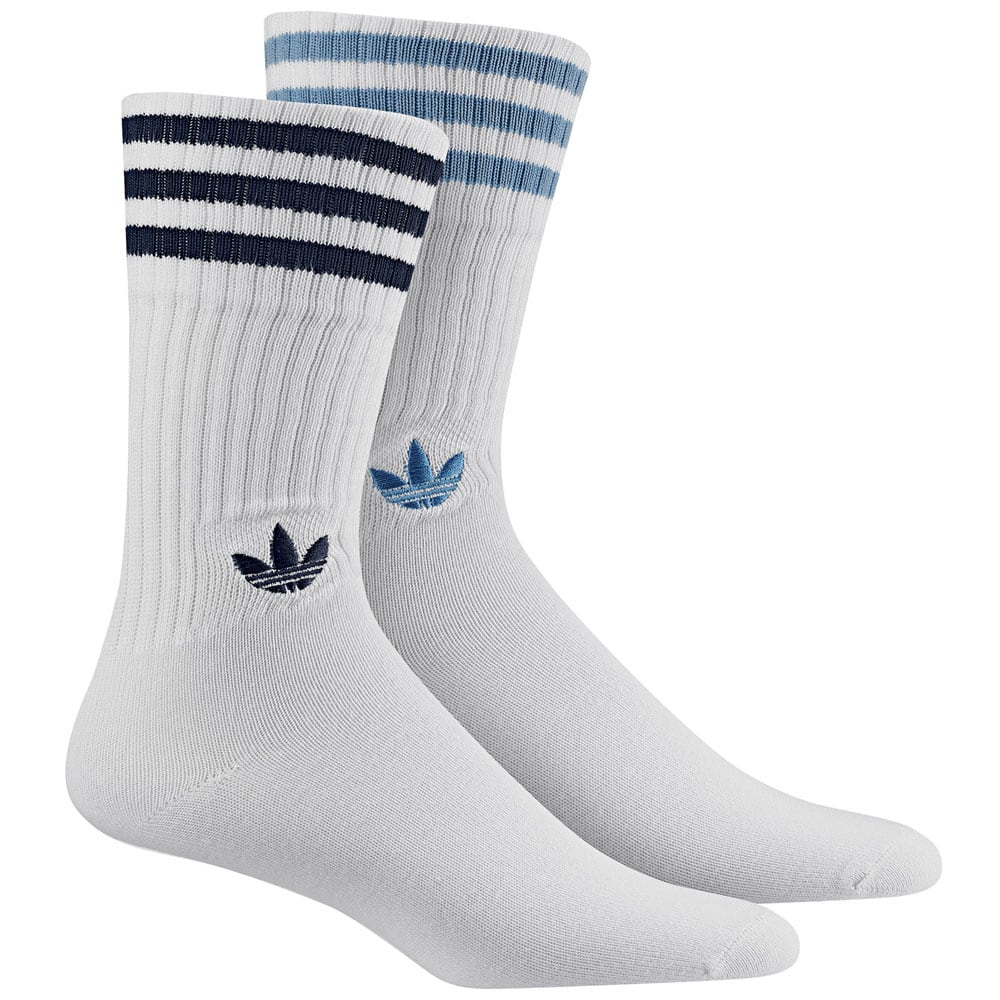 adidas Originals Solid Crew Socks 2 Pack Socken Navy/White