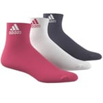 adidas Performance Ankle HC 3 Paar Socken Pink/White/Purple