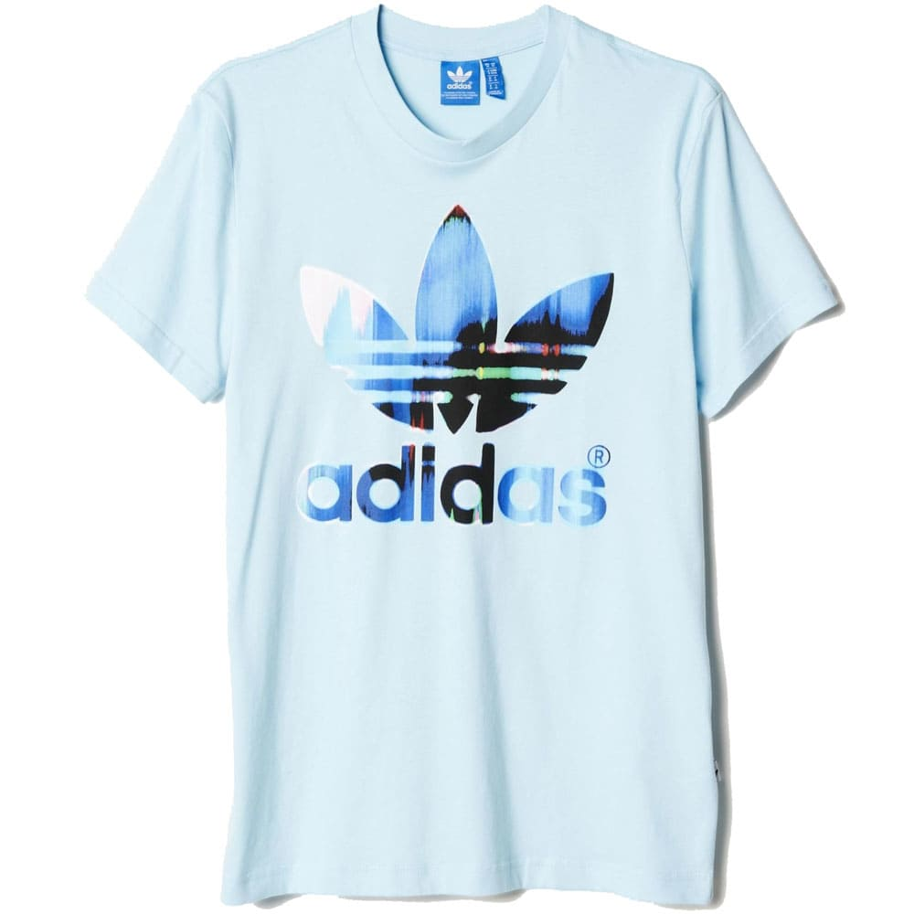 adidas Originals Fade Fill Tee Herren-T-Shirt S19191 Blush Blue