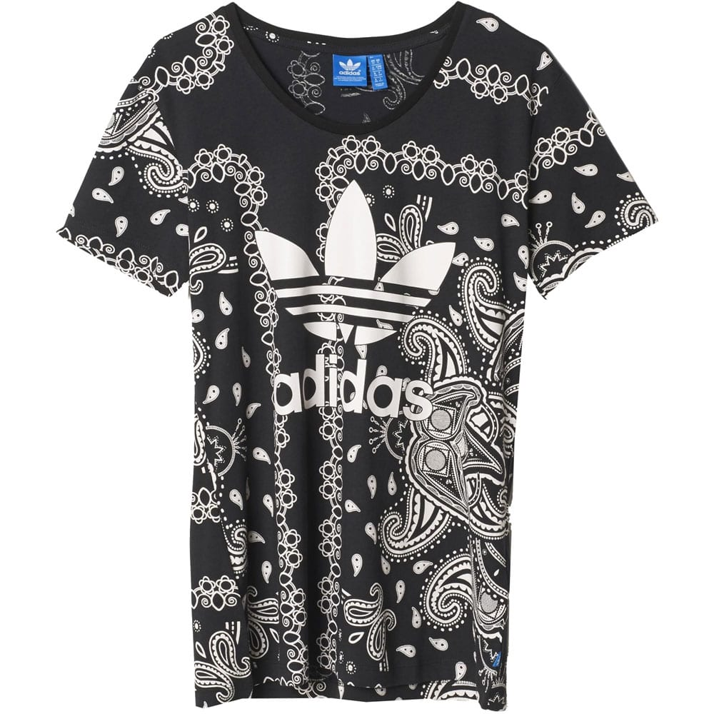 adidas originals paisley tee damen shirt ai4368 joy black. Black Bedroom Furniture Sets. Home Design Ideas