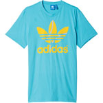 adidas Originals Flock Tennis Ball Tee Herren-Shirt Blanch Sky