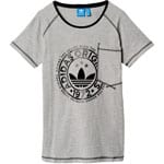adidas Originals T-Shirt New Damen-Shirt Medium Grey Heather