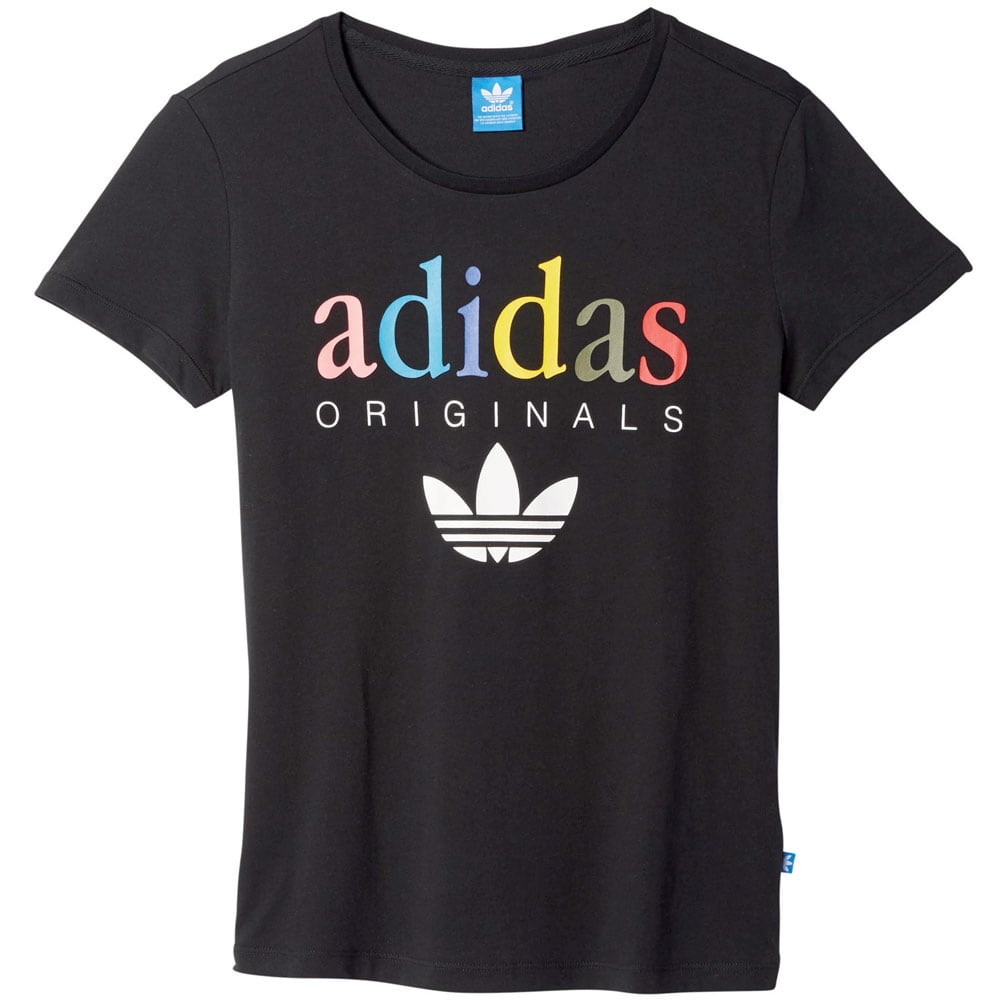 adidas originals t shirt damen tee black fun sport vision. Black Bedroom Furniture Sets. Home Design Ideas