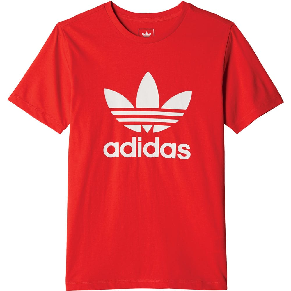 adidas Originals Trefoil Tee Kinder-Shirt Red/White