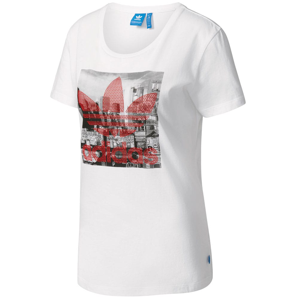 adidas originals trefoil tee damen shirt white fun sport. Black Bedroom Furniture Sets. Home Design Ideas