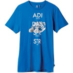 Adidas SST Shoe Graphic Tee Herren-Shirt S19181 Bluebird