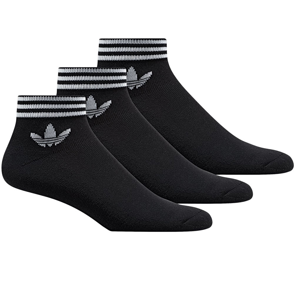 adidas Originals Trefoil Ankle Stripes 3 Paar Socken Black