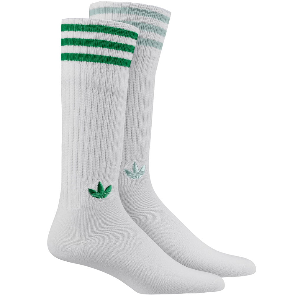 adidas Originals Solid Crew Socks 2 Paar Socken White/Green