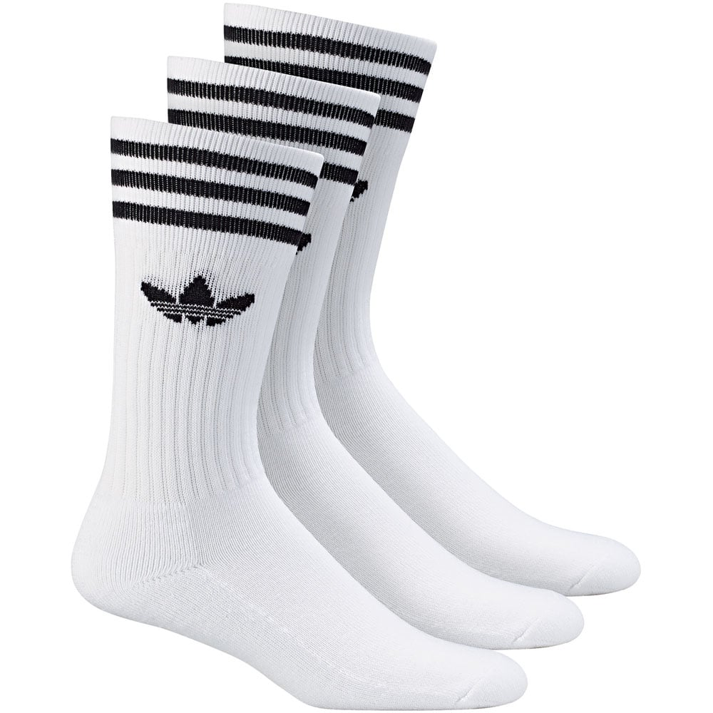 adidas Originals Solid Crew Socks 3 Paar Socken White/Black